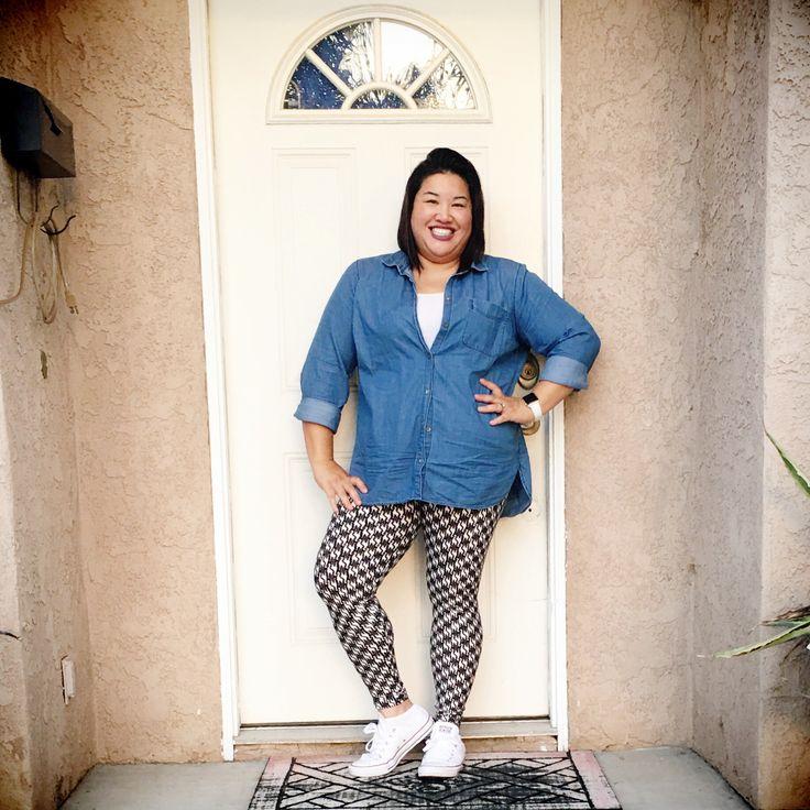 LuLaRoe leggings chambray shirt chuck Tayloru0026#39;s. #lularoekapuagrenz   LuLaRoe Leggings ...