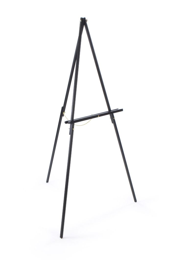 Wood Display Easel For Floor Standard Tripod Design 34 X 59 5 Black
