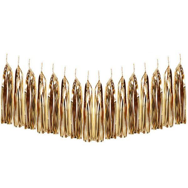 Metallic Gold Tassel Garland Decoration Kit