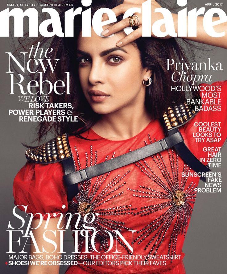 Priyanka Chopra on Marie Claire April 2017 Cover
