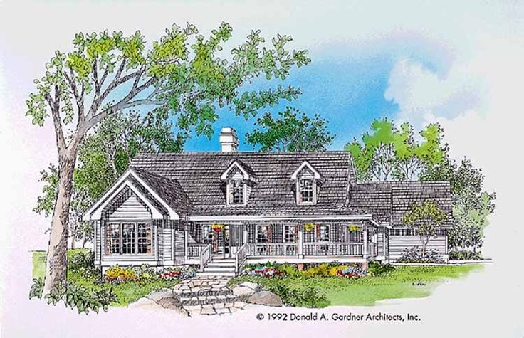 Eplans Farmhouse House Plan Deck With Spa 1590 Square