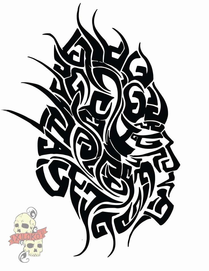 Es una trival hecho a lapiz bic y vectorizado en ilustrator. Es un indio nativo de sudamerica con su indumentaria de batalla, esa es la base, pero la gracia de mis trivales es que forman diferentes figuras dependiendo de donde se les mire.
