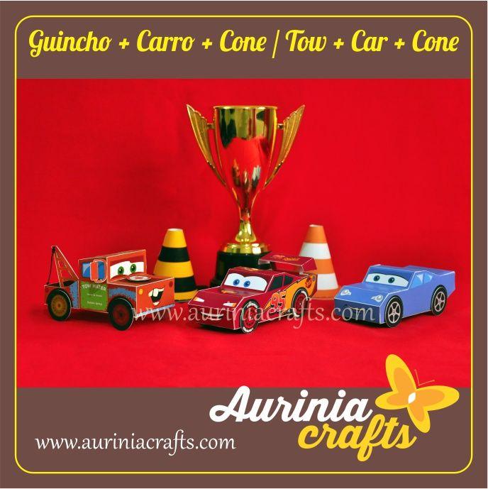 Caixa em forma de Guincho, cor pode ser alterada no arquivo. Bônus: Guincho customizado como Mate para ser usado em eventos de temática Carros.