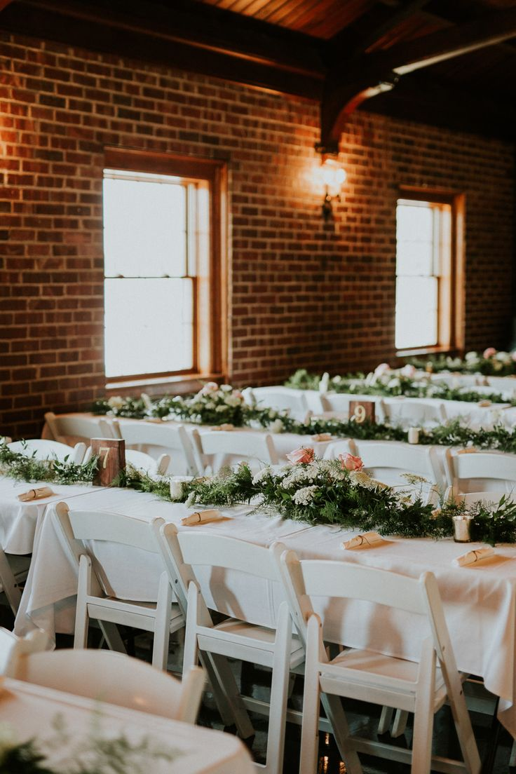 wedding venues on budget los angeles%0A Greenery table runners with roses   St  Louis wedding photography   Jacoby  Photo and Design