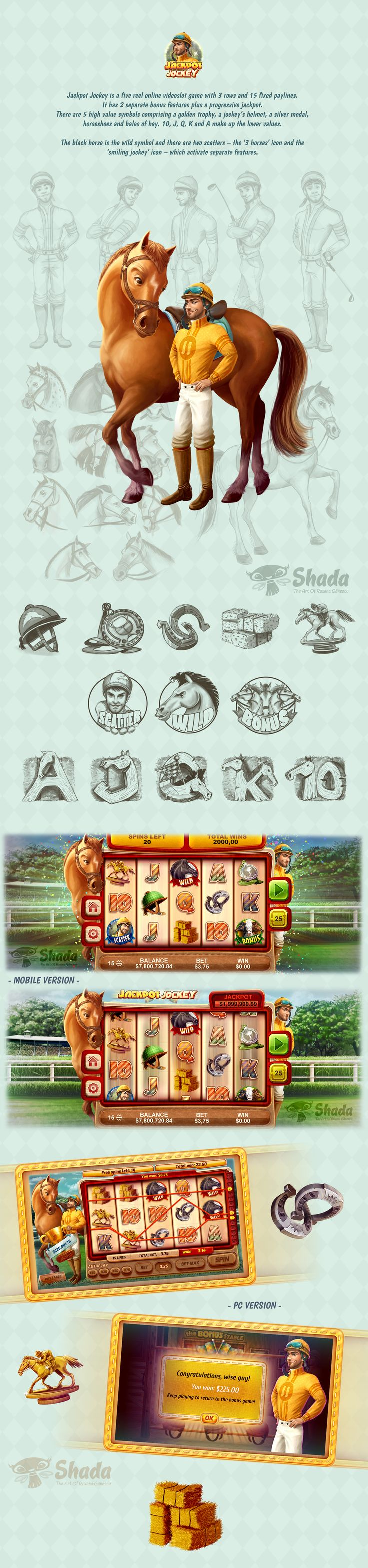 Jackpot Jockey- Videoslots Game on Behance