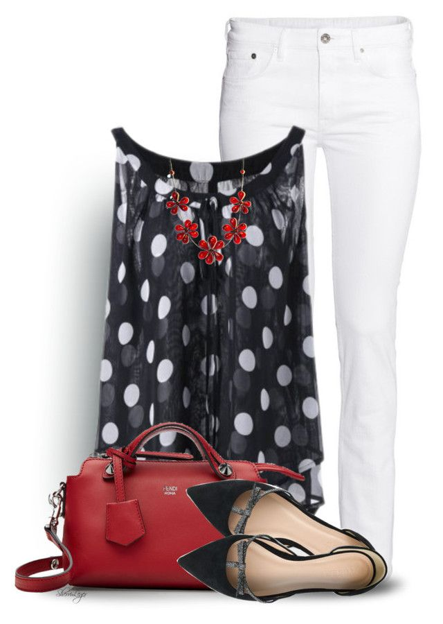 Untitled #2831 by sherri-leger on Polyvore featuring polyvore, fashion, style, H&M, J.Crew, Fendi and clothing