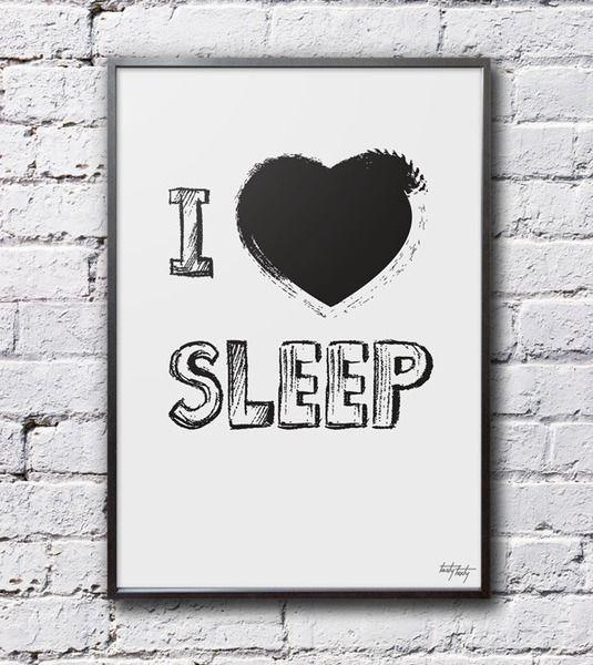 I love sleep - 70x50cm w Tasty Texty na DaWanda.com