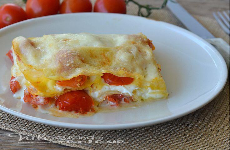 Lasagne con pomodorini e burrata ricetta primo piatto