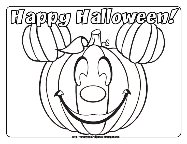 Mickey Mouse Halloween Coloring Pages Coloring Coloring Pages