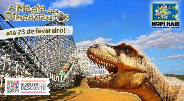 O maior parque temático da América Latina foi invadido pela Magia dos Dinossauros! Experimente como é viver em um mundo jurássico e se depare com criaturas incríveis no Hopi Hari! Adquira seus ingressos em www.ingressocomdesconto.com.br