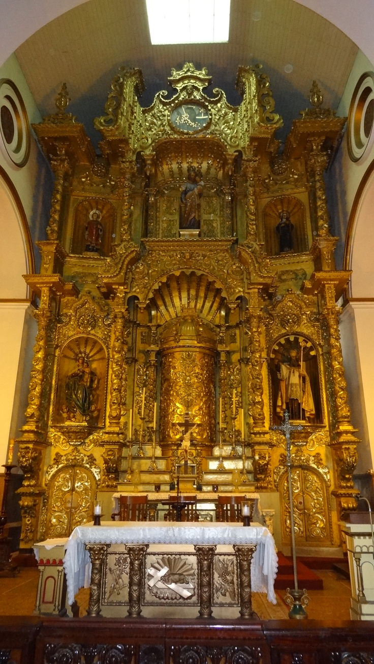 The famous gold altar that was painted black to hide it from the pirates.