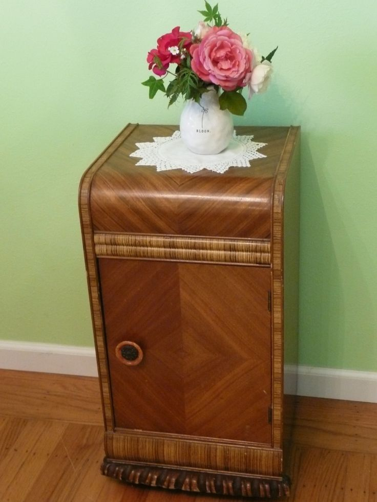 Deco waterfall nightstand waterfalls night stands and deco for Waterfall design etsy