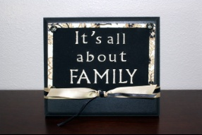 It's All About Family Plaque  $12.99