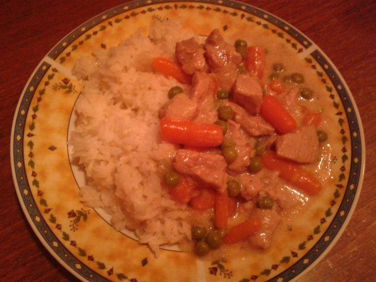 Zöldséges tokány főtt rizzsel -- receptek365.info
