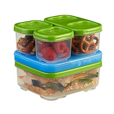 Rubbermaid LunchBox Sandwich Kit, Food Storage Container, Green