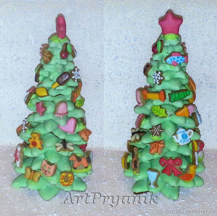 Купить Имбирная елка с пряничными игрушками, объемный пряник, Новый год 2018 - елка, подарок ребенку