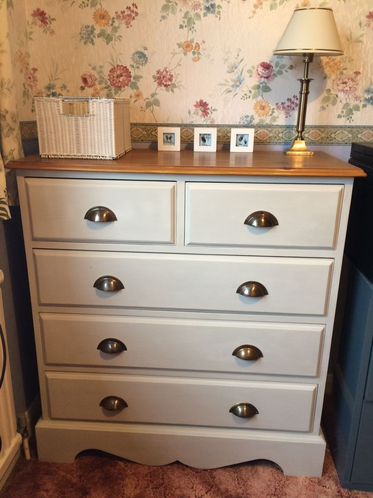 See how I transformed an outdated pine chest of drawers by repainting, varnishing and changing the handles.