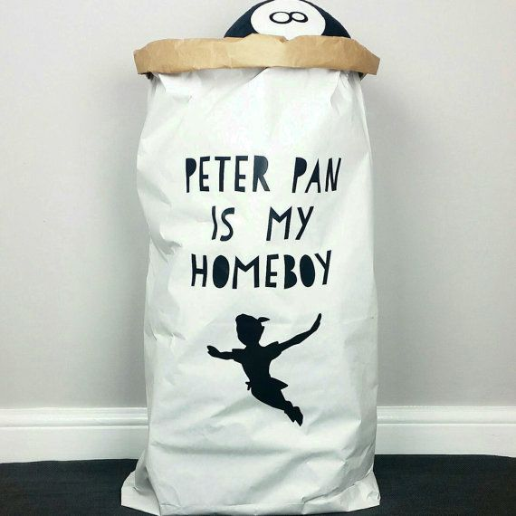PETER PAN  HOMEBOY  White or Brown Strong Paper by SpudyAndCo