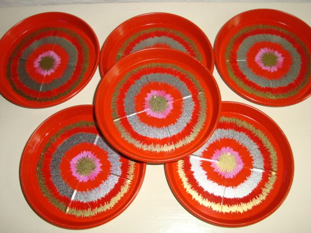 IRA Danish design retro coasters by Anita Wangel from the 70s. #iradenmark #iradanmark #danishdesign #danskdesign #coasters #anitawangel #retro #kitchenware #tilsalg #forsale on www.TRENDYenser.com