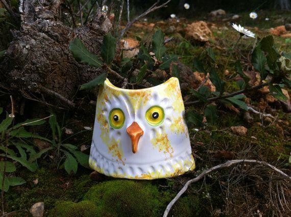 Ceramic owl figure