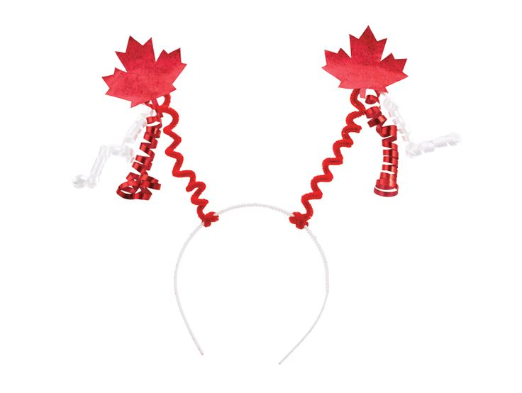 DIY Canada Day craft-party headband. This headband is fun to make and easy to personalize. Wear it to your Canada Day Celebration and show off your national pride!