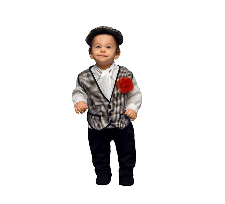 Disfraz de #Madrileño o #Chulapo para #Bebés. #SanIsidro #Madrid #FeriadeSanIsidro #Disfraz