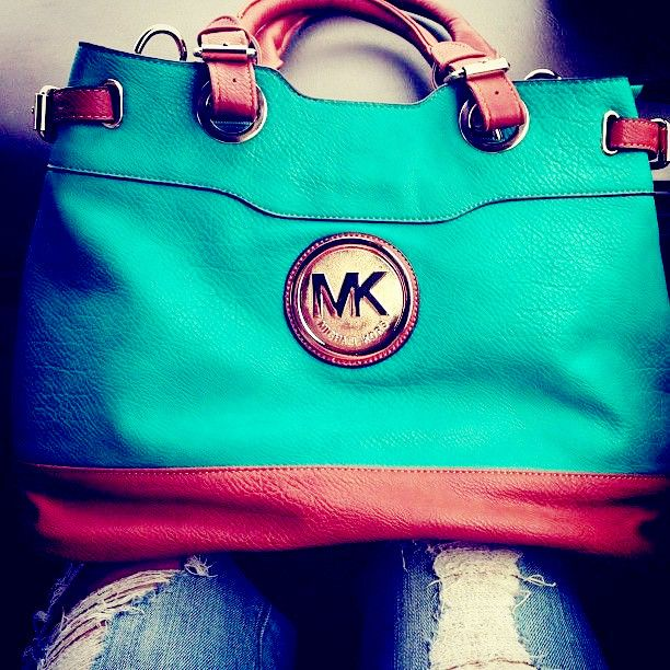 MICHAEL KORS totes. Too adorable and a wonderful pop of color to lift any outfit