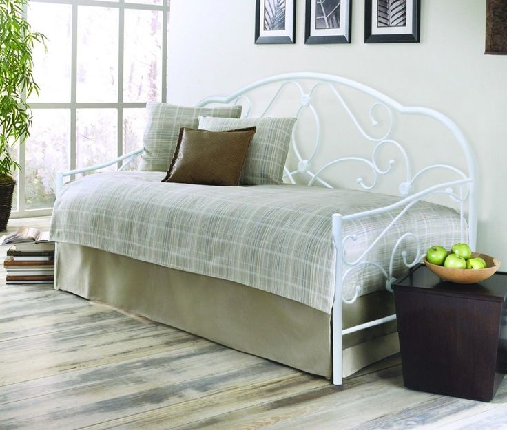 3FT SINGLE METAL BED ALEXIS DAYBED WHITE BACK IS STOCK FREE NEXT DAY DELIVERY | eBay