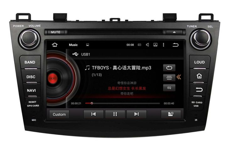 "1024*600 Quad Core 2 din 8"" Android 5.1.1 Car dvd player for Mazda 3 2009-2012 With GPS 3G WIFI Bluetooth TV Radio USB 16GB ROM"