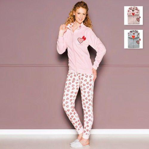 #carillopin http://www.carillobiancheria.it/pigiama-donna-invernale-in-caldo-cotone-pierre-cardin-art-ortensia-l985-15458.html