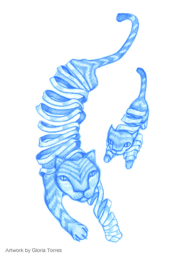 "#ElementEdenArtSearch ""Untitled"", blue pencil on paper."
