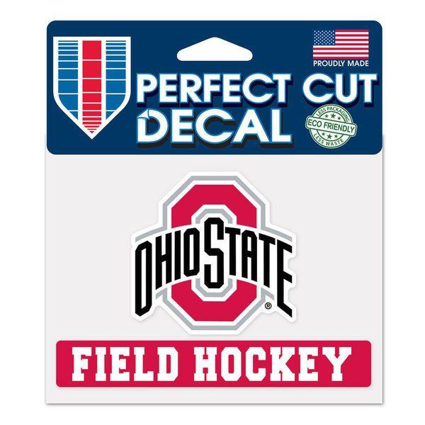 Ohio State Buckeyes WinCraft 4 x 5 Field Hockey Perfect Cut Decal