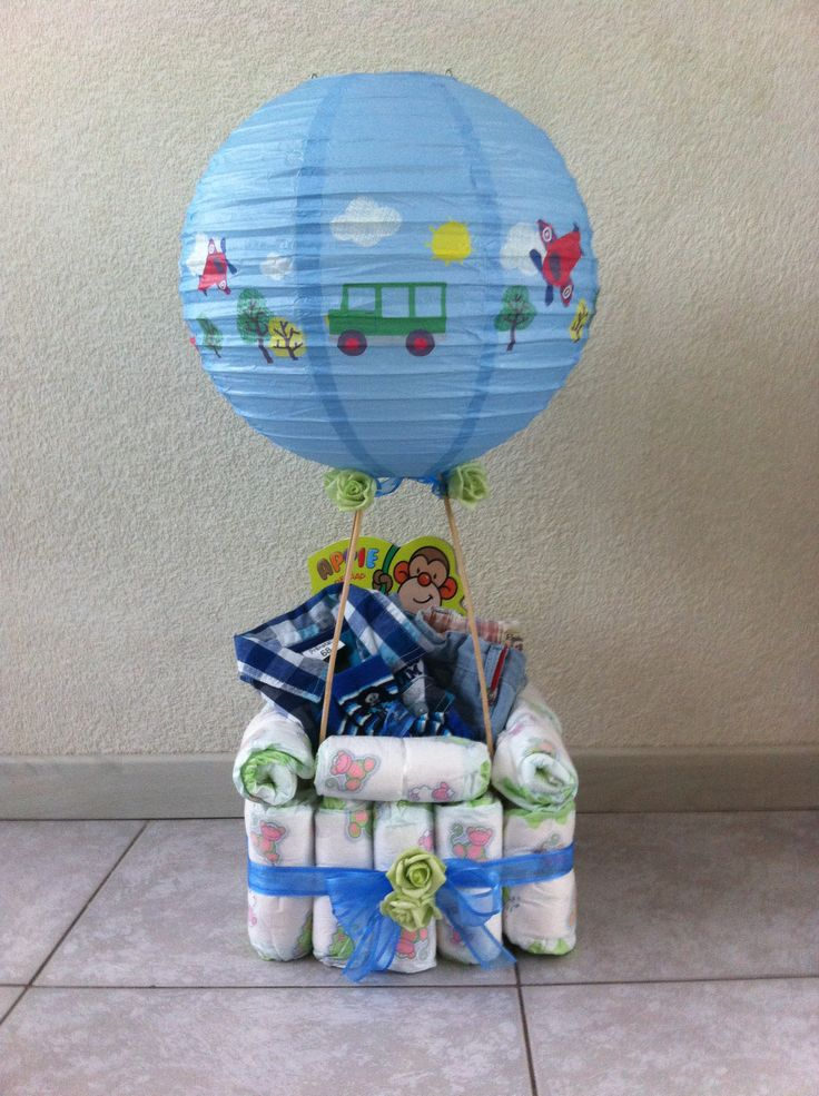 Luier luchtballon/ diaper hot airballoon
