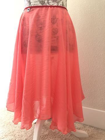 a5f691db31 New】【Coral Georgette】Rehearsal long flowy skirt | long rehearsal ...