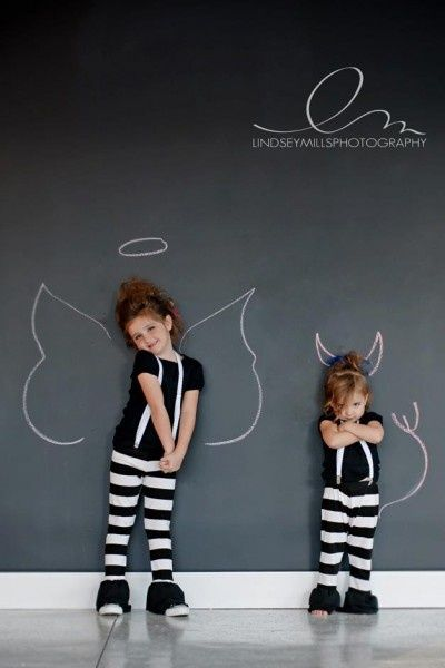 chalkboard wall, cute way to take a picture.