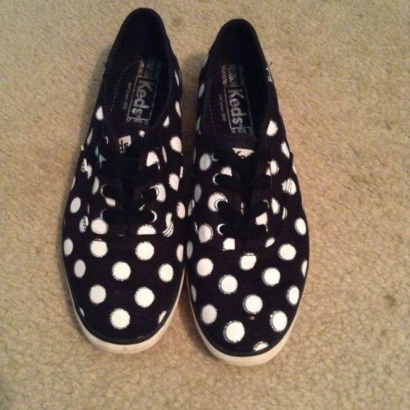 keds black and white polka dot shoes