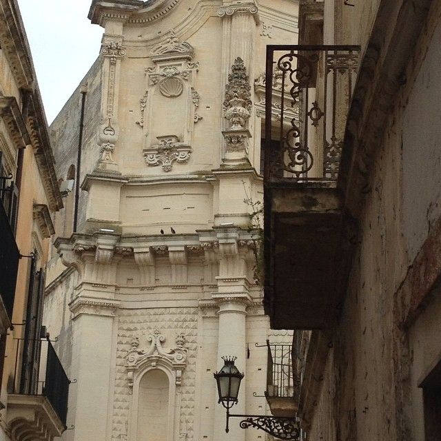 Baroque facades and balconies, Lecce
