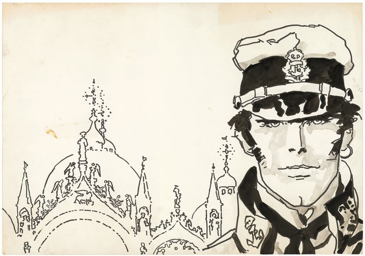 Hugo Pratt, Corto Maltese. Favola di Venezia. Copertina © 1979 Cong SA, Svizzera. Tutti i diritti riservati