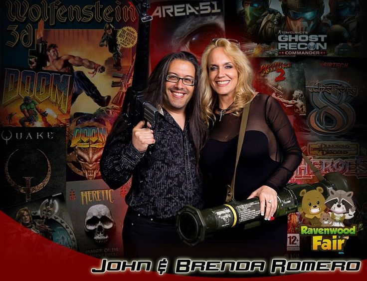 Please welcome John and Brenda Romero to #SLComicCon!  John Romero is best known for co-founding id Software and designing #Wolfenstein3D, #Doom and #Quake, and recently developed #TheWalkingDead social game for AMC. Brenda Romero is best known for her work on #Wizardry and #JaggedAlliance and recently won the Women in Games Lifetime Achievement Award presented by #Microsoft: http://saltlakecomiccon.com/portfolio/brenda-and-john-romero/ #gamers #videogames