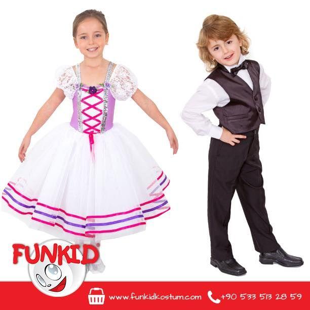 Funkid, yıl sonu gösterileriniz, doğumgünleriniz, özel günleriniz için harika kostümler tasarlayıp, dikiyor. Likra, dantel ve tül kullanılarak tasarlanan kız çocuk kostümümüz; yeleği, pantolunu ve papyonu ile şık olduğu kadar rahat erkek çocuk kostümümüz stoklarımızda. Siparişleriniz için funkidkostum.com veya 0533 513 28 59'dan bize ulaşabilirsiniz. #kids #çocuk #costume #kostum #funkidkostüm #dogumgunu #23nisan #yılsonugösterisi — Funkid Kostüm'de.