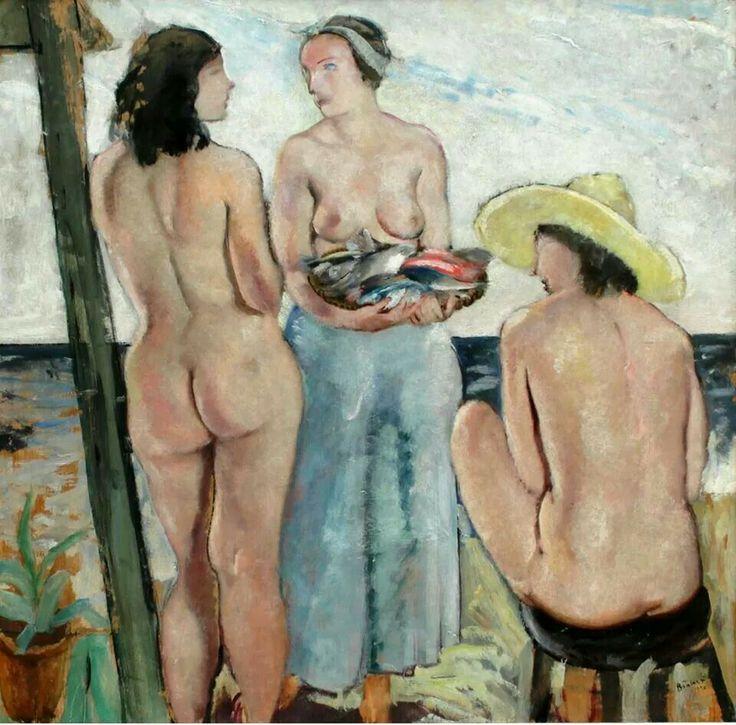 Bernardino Palazzi: Donne sulla spiaggia, 1930