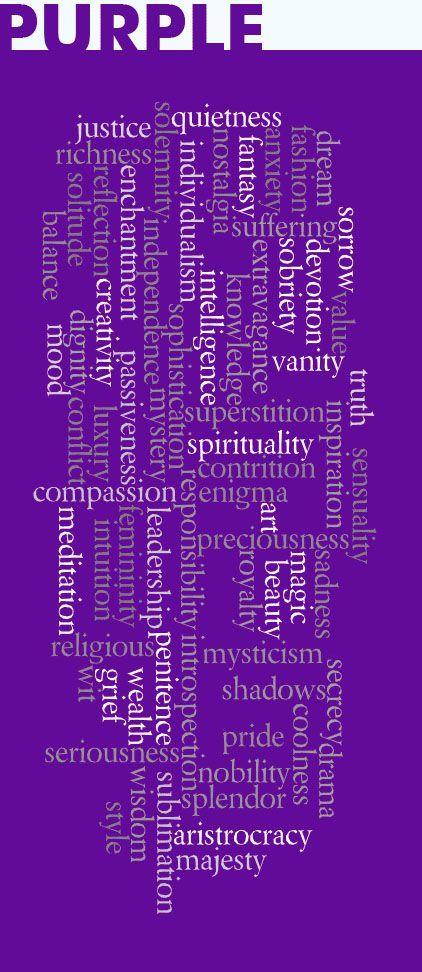 Purple: Words, Qualities, Descriptions Associated with the Color Purple | #Purple