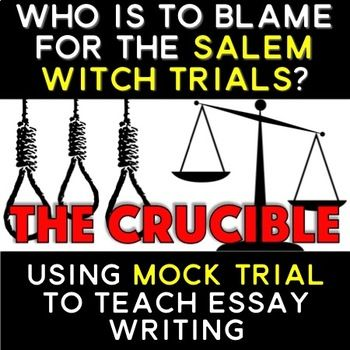 essay on the crucible who is to blame The crucible: abigail williams is to blame essay example - the crucible - abigail williams is to blame in arthur miller's the crucible, the main character abigail williams is to blame for the 1692 witch trials in salem, massachusetts abigail is a mean and vindictive person who always wants her way, no matter who she hurts.