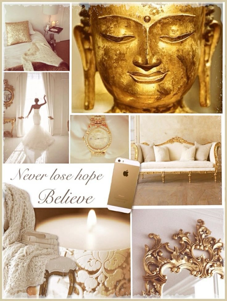 Touch of gold buddha moodboard