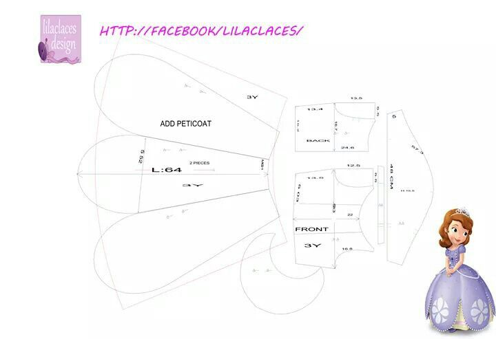 Http://www.Facebook.com / lilaclaces /   Sofia Princesse dress pattern sewing