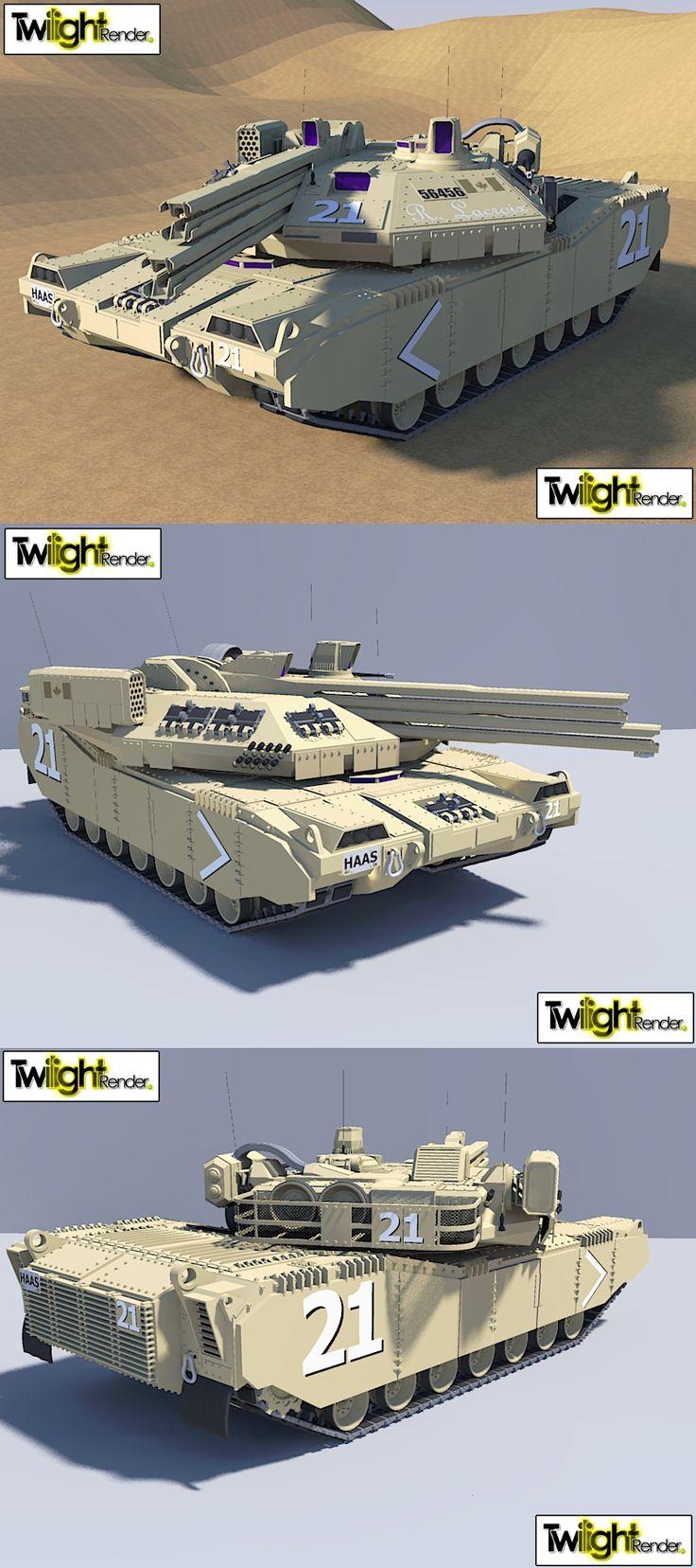 Dual Rail Gun Tank by MSgtHaas.deviantart.com on @deviantART