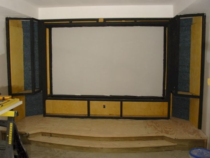 Examples Of DIY Screen/stage Projects. Theater RoomsHome TheaterTheatre  DesignMouldingSpeakersBasementScreensConstructionRoom Ideas
