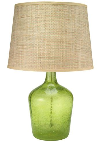 Jamie young lighting table lamp base plum jar celadon seeded glass medium laylagrayce