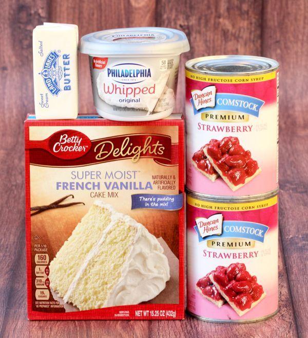 Strawberry Cheesecake Dump Cake Recipe! {4 Ingredients} - The Frugal Girls