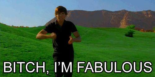"""100 best GIFs Zac Efron """"Bitch I'm fabulous"""""""